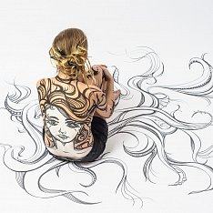 Hair style bodypainting